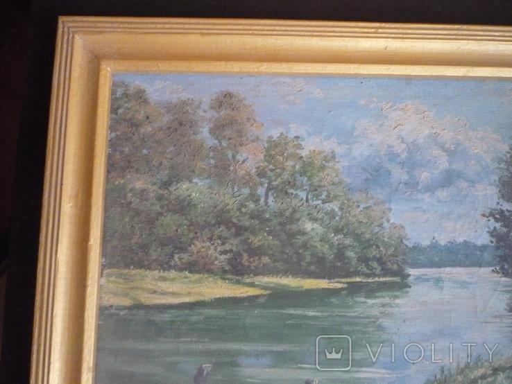 Картина закарпатского художника. Река Тиса., фото №3