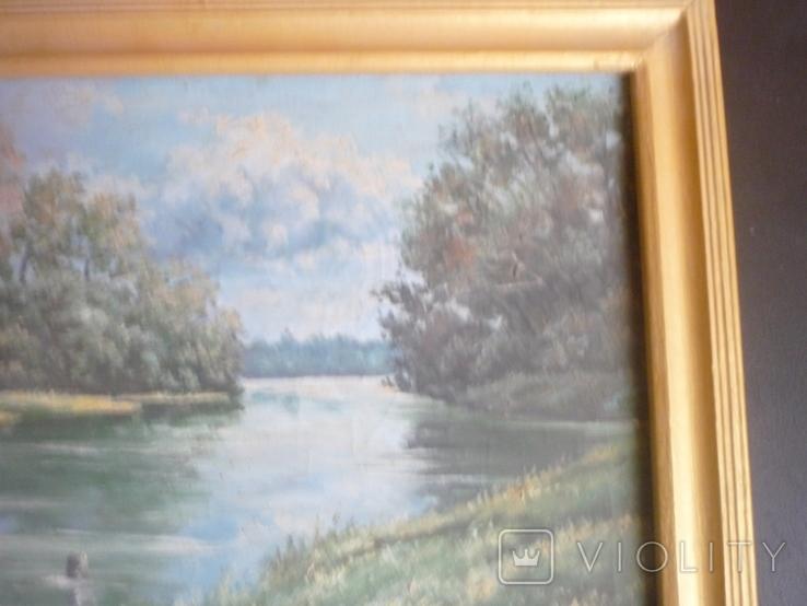 Картина закарпатского художника. Река Тиса., фото №4