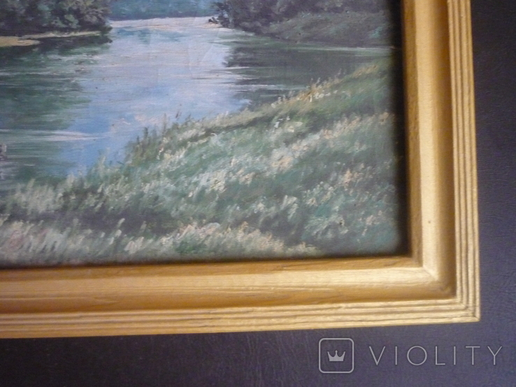 Картина закарпатского художника. Река Тиса., фото №6