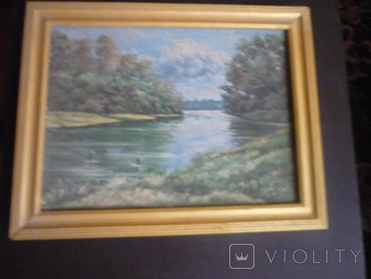 Картина закарпатского художника. Река Тиса., фото №7