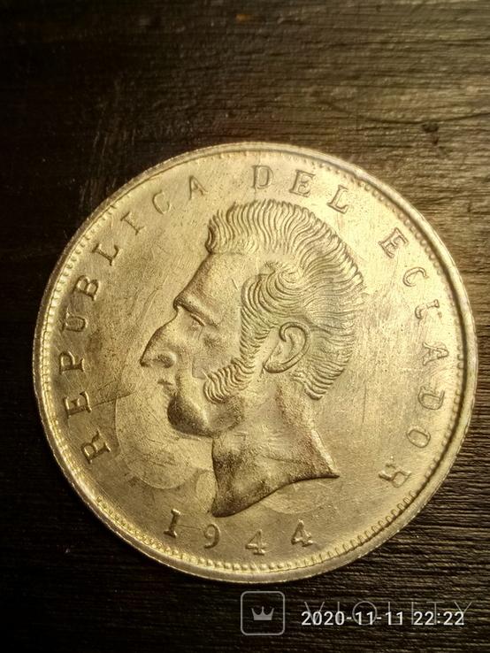 5 сукрэ Эквадор, 1944 г.(копия), фото №2