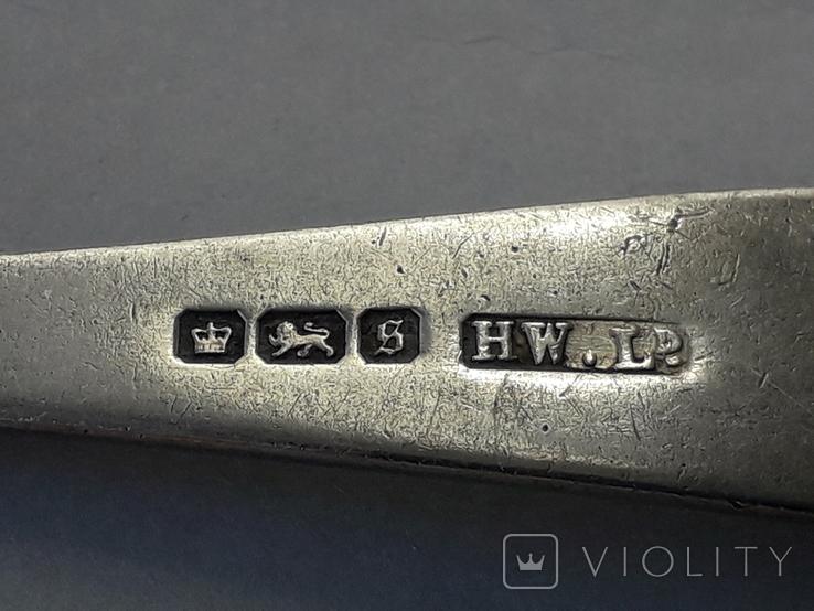 Фуршетная вилка, серебро, ~16 грамм, Великобритания, 1910 год, фото №8