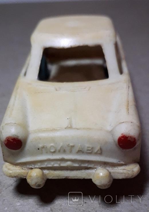 Машинка из прошлого 50-60-х годов СССР ПОЛТАВА Москвич (колкий пластик,клеймо), фото №3