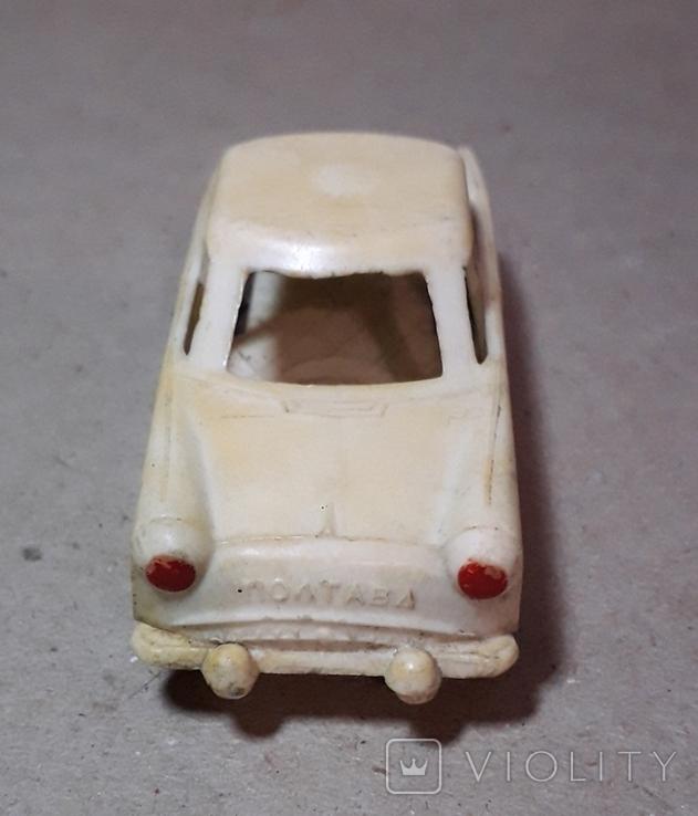 Машинка из прошлого 50-60-х годов СССР ПОЛТАВА Москвич (колкий пластик,клеймо), фото №5