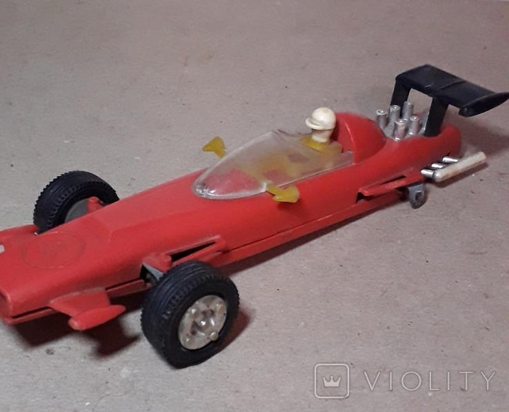 Гоночная машина Формула 1 1980-е СССР клемо Киевского з-да,длина 15 см., фото №2