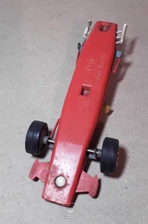 Гоночная машина Формула 1 1980-е СССР клемо Киевского з-да,длина 15 см., фото №6