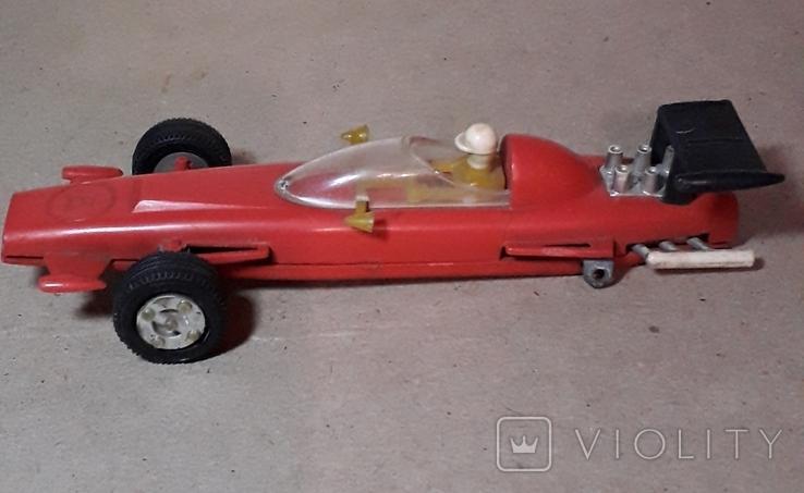 Гоночная машина Формула 1 1980-е СССР клемо Киевского з-да,длина 15 см., фото №8