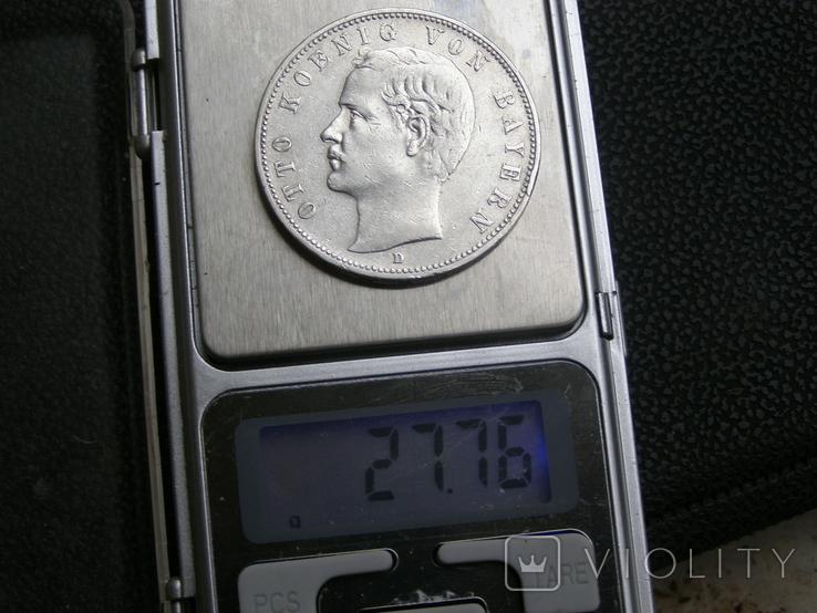 5 марок 1907 D Бавария, фото №9