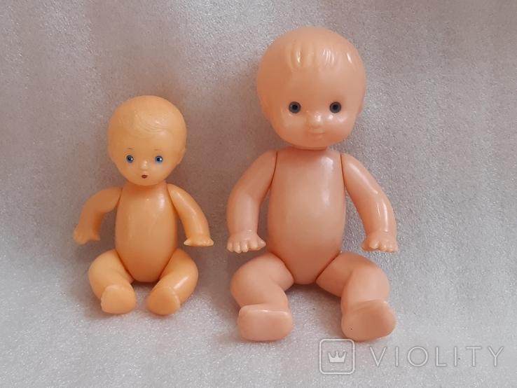 Куклы пупсы 2 шт, один на резинках, фото №2