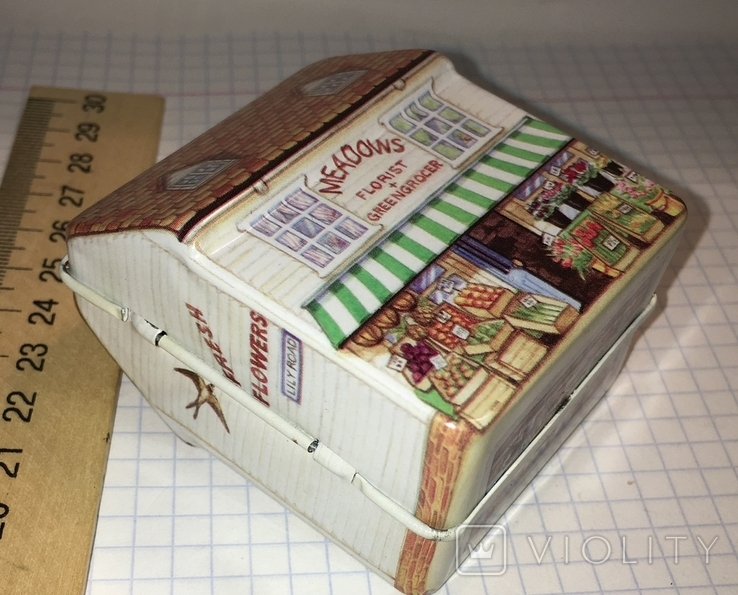 Шкатулка жестяная, домик / будиночок, фото №3