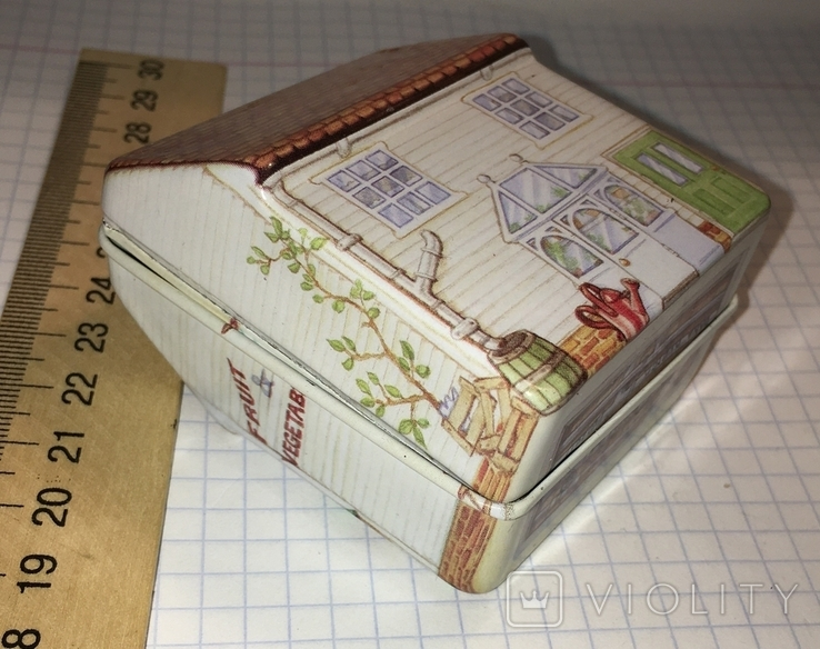 Шкатулка жестяная, домик / будиночок, фото №4