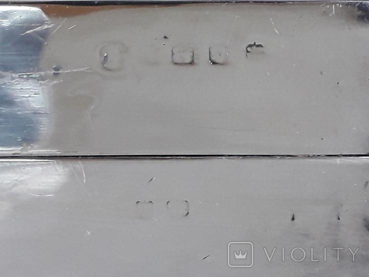 Коробка для сигарет, серебро, Великобритания, вес брутто 485 грамм, фото №8