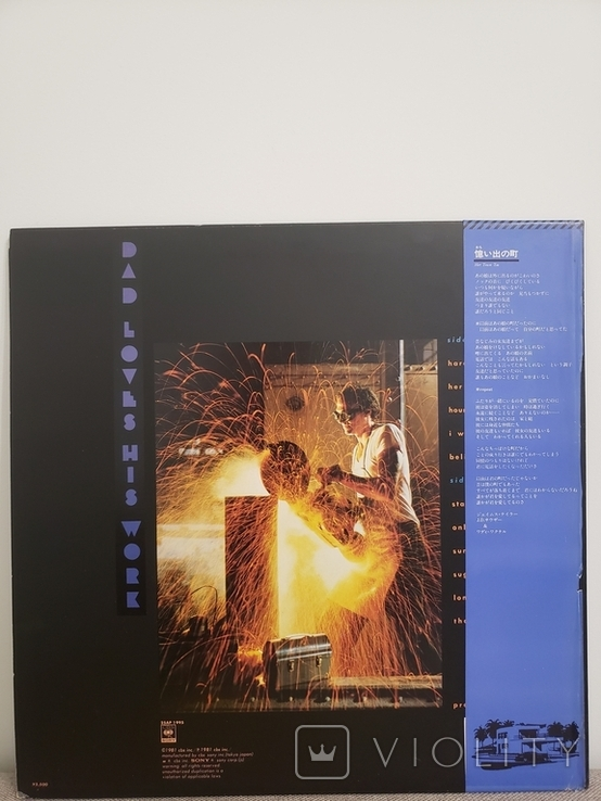 """Vinyl.  Rock, Pop. """"James Taylor – Dad Loves His Work"""" with insert & OIS, OBI, фото №3"""