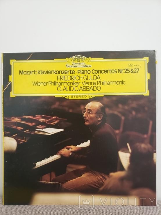 """Deutsche Grammophon. """"GULDA ABBADO/MOZART-KLAVIERKONZERTE NR25 and 27"""", фото №2"""