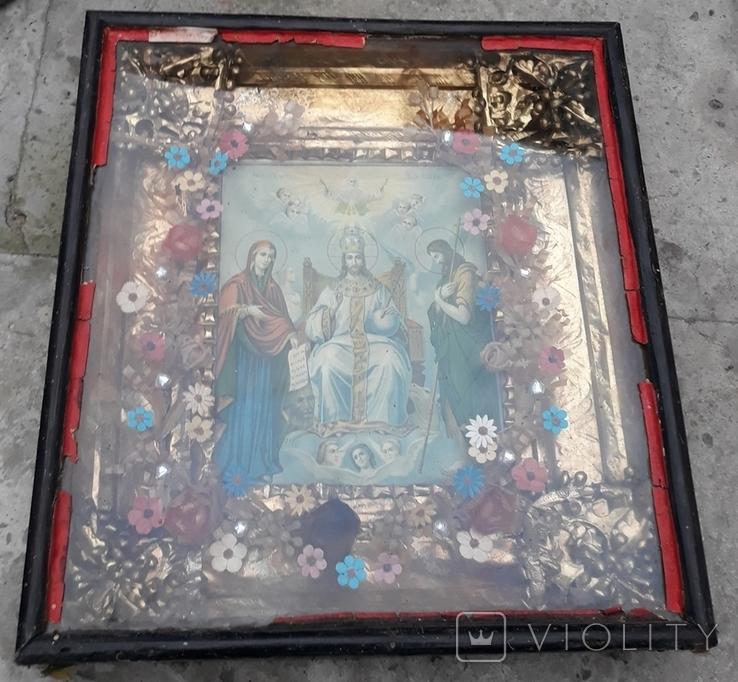 Икона, Спас на троне, фото №2