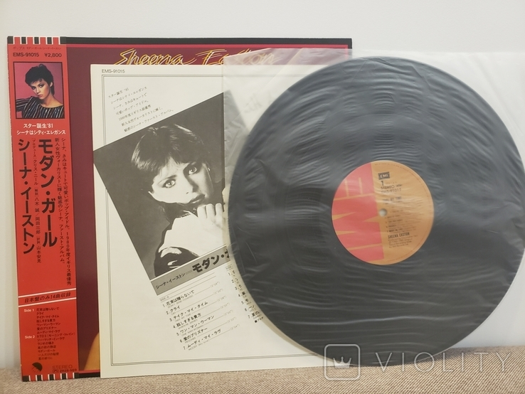 "Vinyl. Rock. ""Sheena Easton ‎– Take My Time"" with OBI and insert, фото №4"