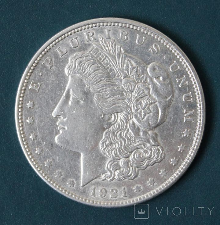 1 доллар 1921(D), фото №2