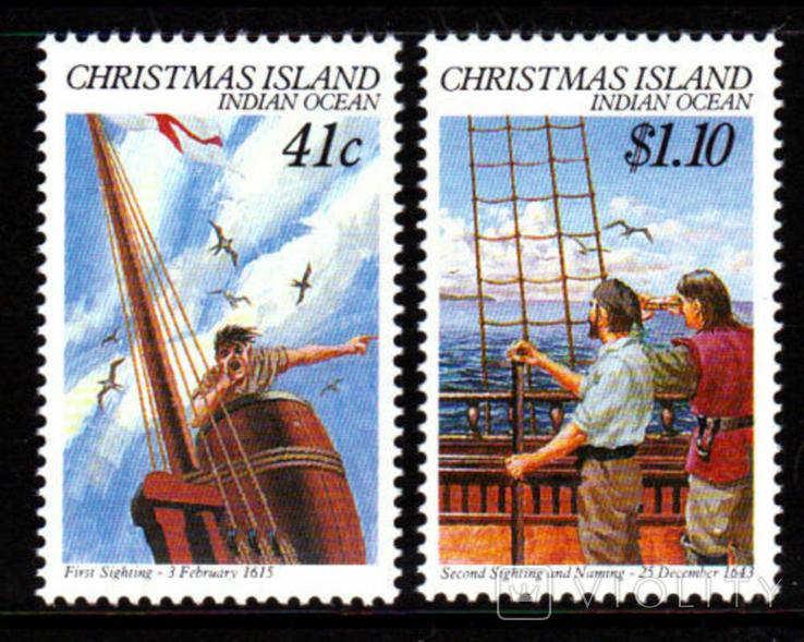О-в Рождества 1990 юбилей открытия острова