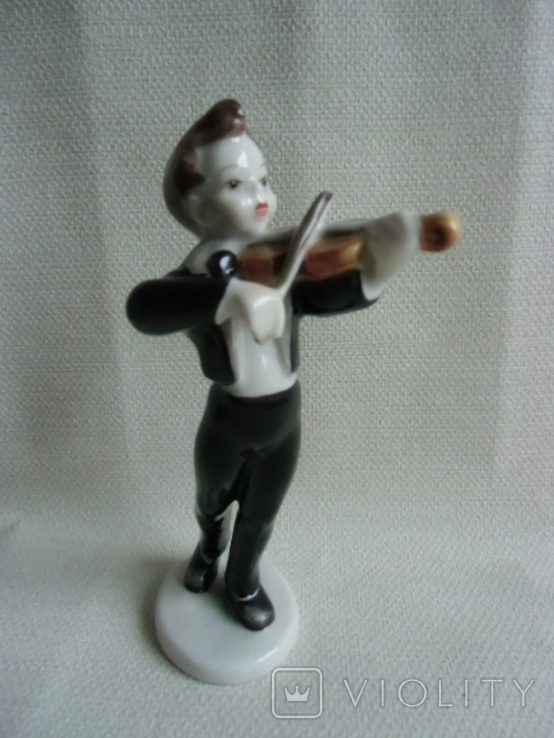 Юный скрипач Венгрия .Холохаза .Ручная роспись., фото №2