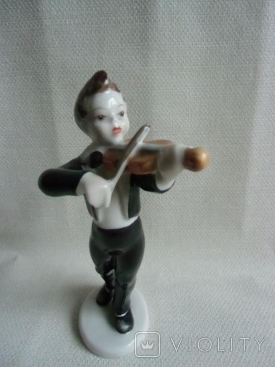 Юный скрипач Венгрия .Холохаза .Ручная роспись., фото №9