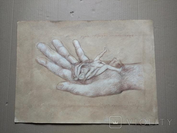 """Рука творца"" б.кар. 32х43 см.2020г. В. Павлов, фото №2"