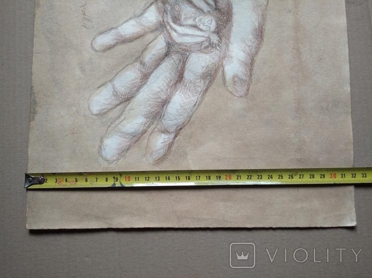 """Рука творца"" б.кар. 32х43 см.2020г. В. Павлов, фото №6"