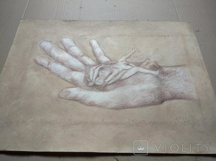 """Рука творца"" б.кар. 32х43 см.2020г. В. Павлов, фото №9"