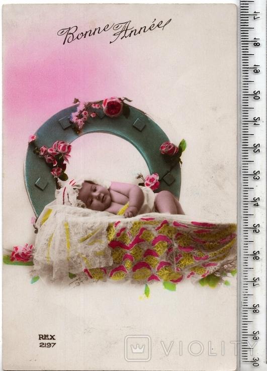 Старинная открытка. 1928 год. Дети.(3), фото №2