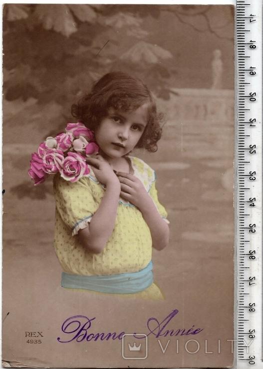 Старинная открытка. 1918 год. Дети.(3), фото №2