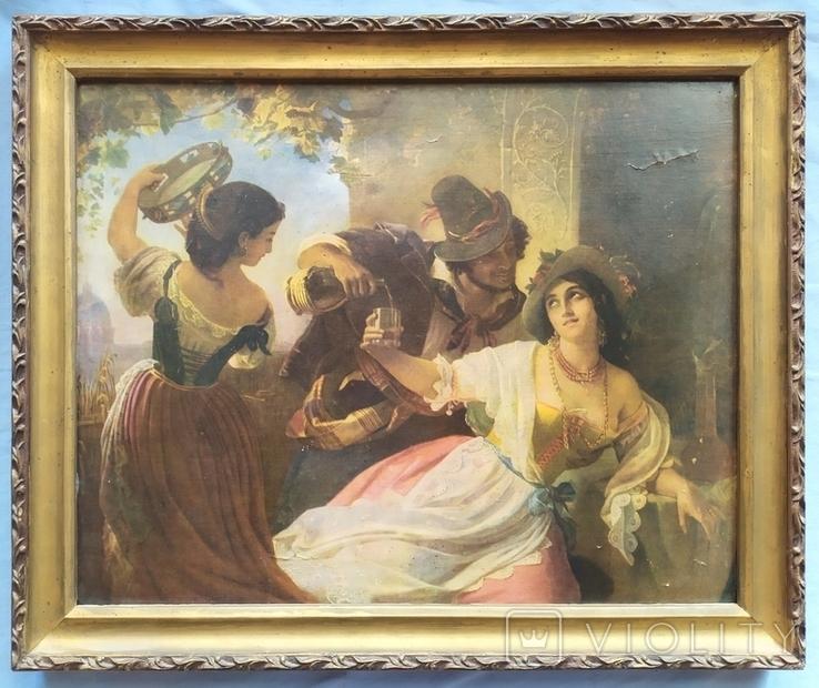 Октябрьский праздник в Риме, Орлов. Картинка рама репродукция, фото №2