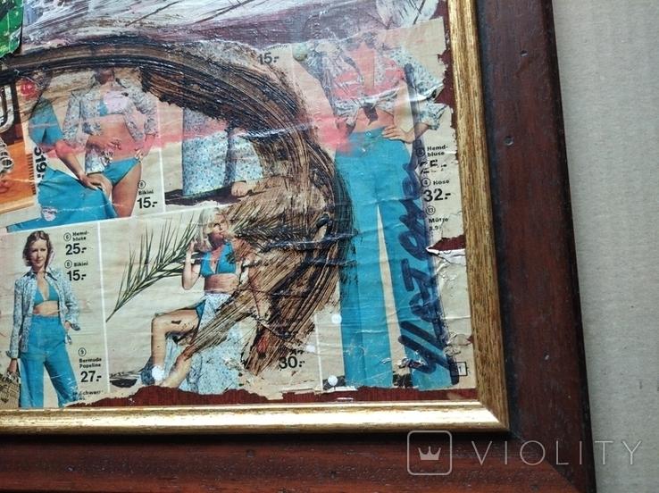 """""""Абстракция""""к./б./акр.39х50 см. 2007.Анатолий Шевчук, фото №4"""