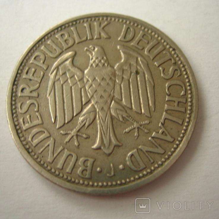 Германия. ФРГ 1 марки 1950 года.J, фото №6