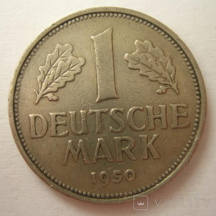 Германия. ФРГ 1 марки 1950 года.F, фото №5
