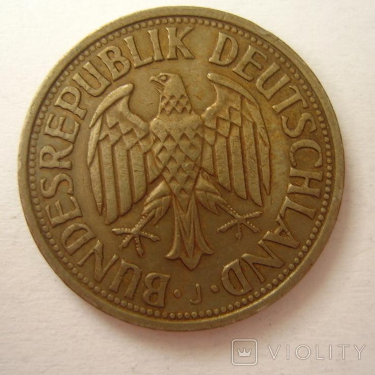 Германия. ФРГ 1 марки 1964 года.J, фото №4
