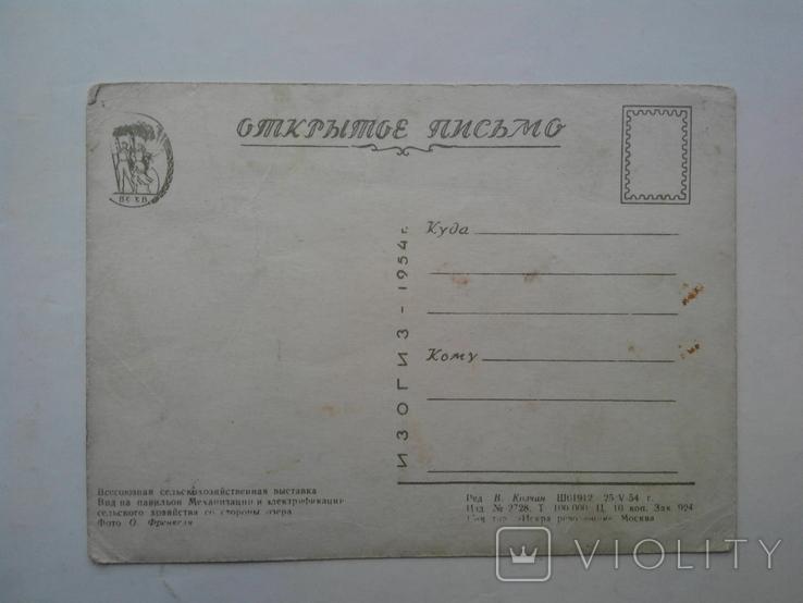 Всесоюзная сельскохозяйственная выставка. ИЗОГИЗ 1954 г., фото №6
