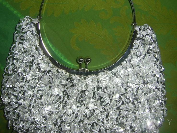 Сумочка серебристая, фото №3