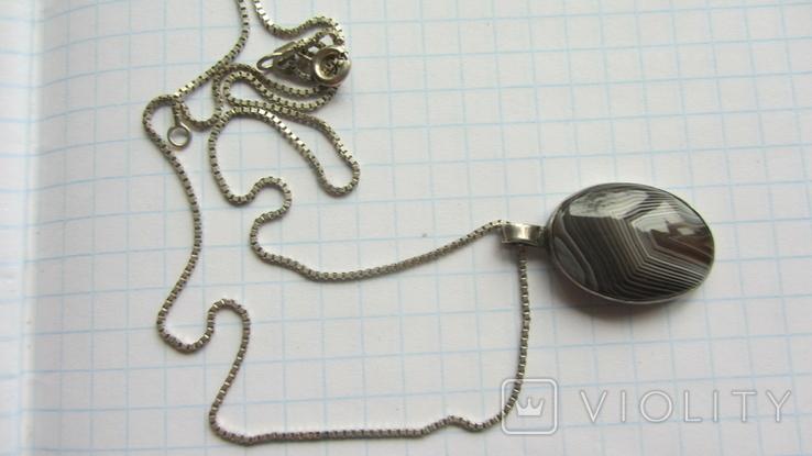 Кулон. Серебро, агат., фото №4