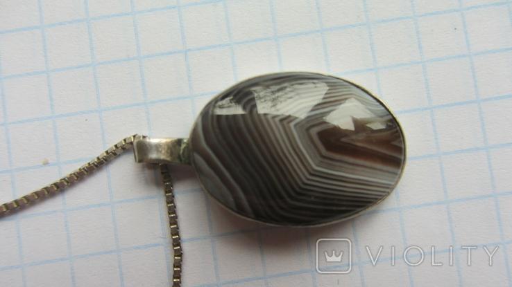 Кулон. Серебро, агат., фото №2
