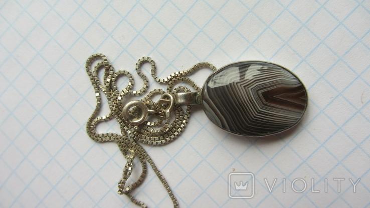 Кулон. Серебро, агат., фото №6