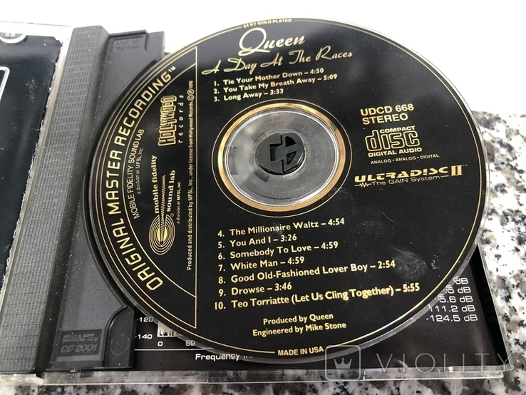 Qeen A day at the races CD, MFSL 24k gold, фото №4