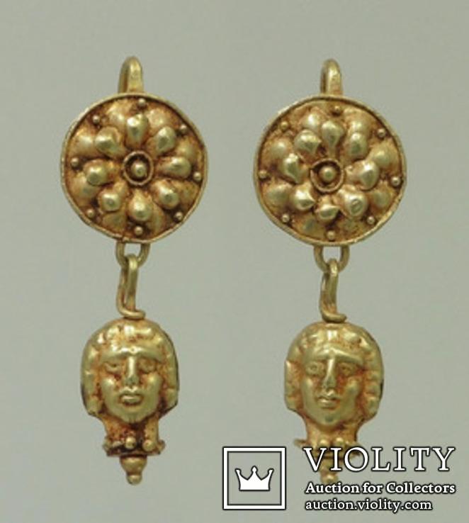 Античные серьги  Золото  9.1 гр