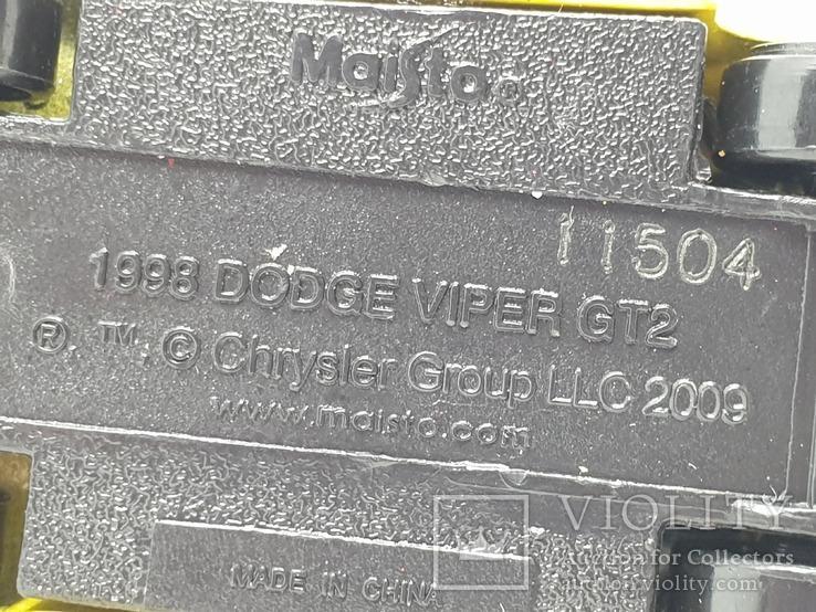 MAISTO DODGE VIPER GT2 (c), фото №3