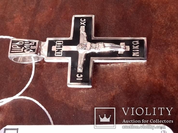 Крестик с эмалями,925пр., фото №5