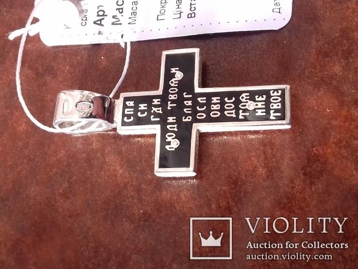 Крестик с эмалями,925пр., фото №8