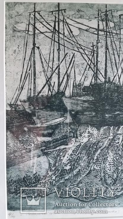 Кецало З. Рибальські сіти, 1975, змішана техніка, 35,5х41см5, фото №4