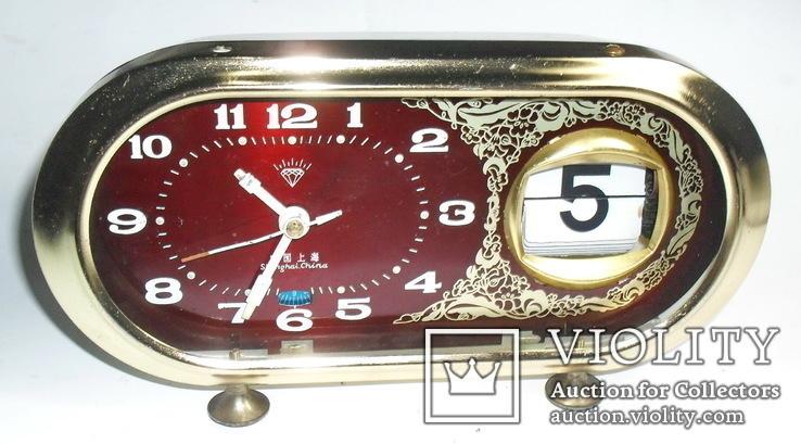 Shanghai china часы с календарем, фото №2