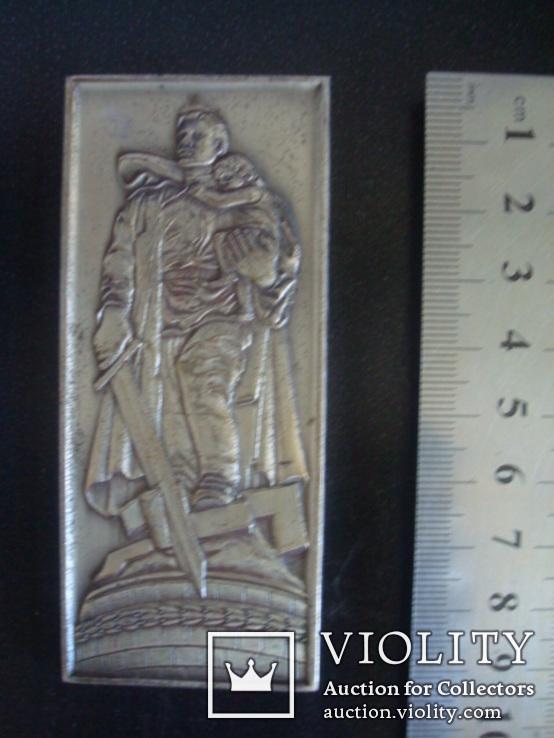 """Настольная медаль-плакетка монумент """"Воину Освободителю"""", фото №3"""