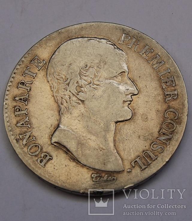 5 франков 1802 (AN XI) Наполеон I серебро 24.79 г