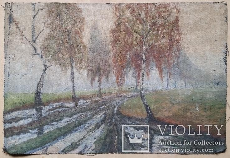 Картина, мішковина, олія, 38х56 см, фото №2