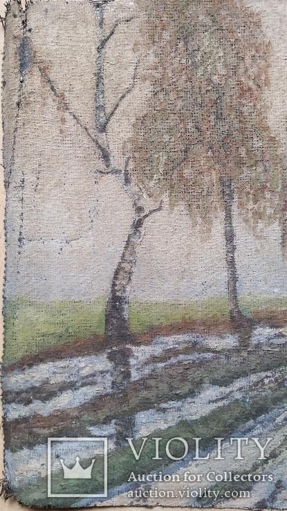 Картина, мішковина, олія, 38х56 см, фото №3